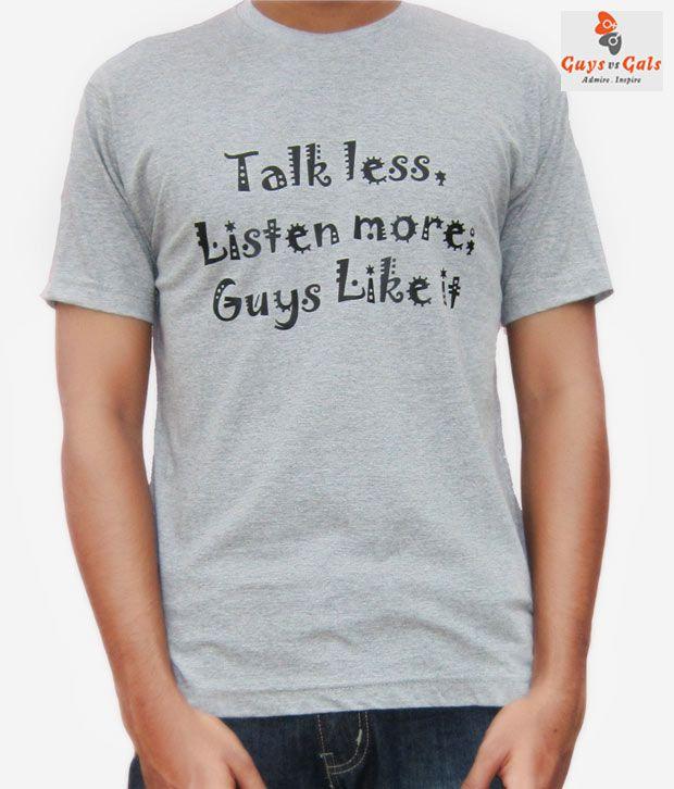 Guys Vs Gals Grey Tshirt