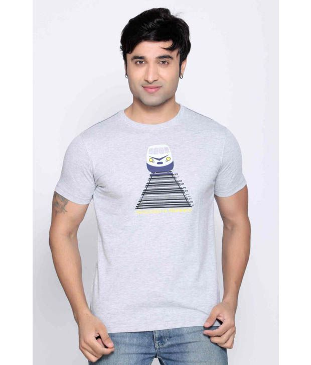 Locomotive Grey Melange T Shirt