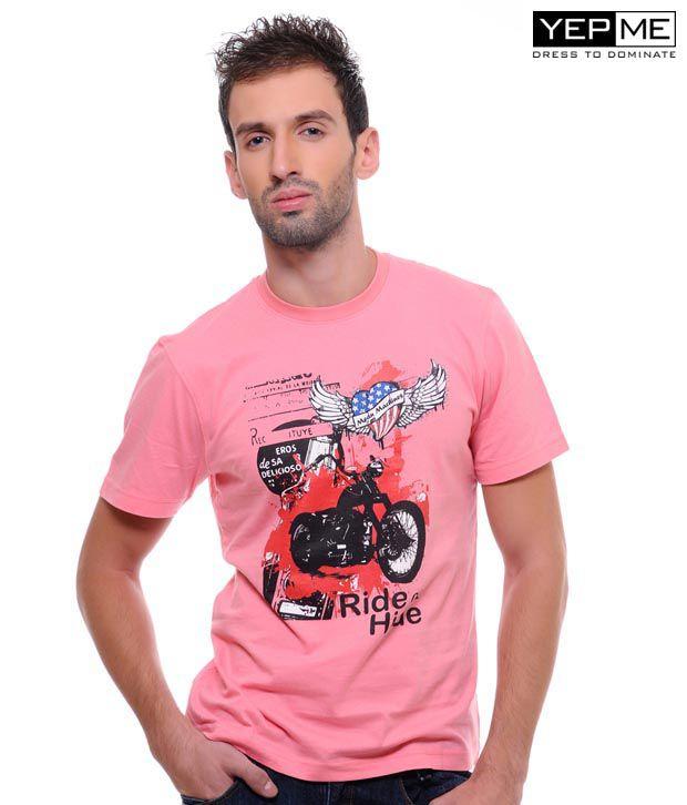 Yepme Allen Biker Baby Pink Tee
