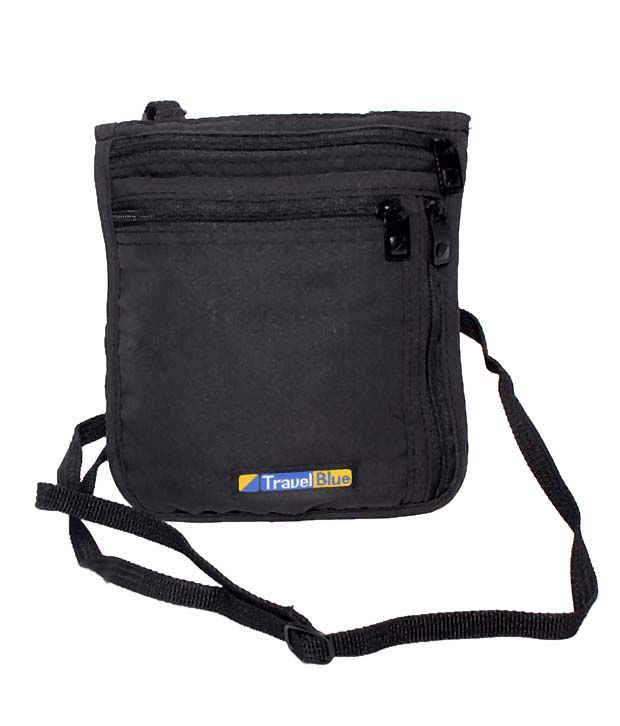 Travel Blue Black Ultra Slim Neck Carrier
