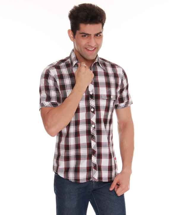 Crosscreek W-Brown Checks Casual Shirt