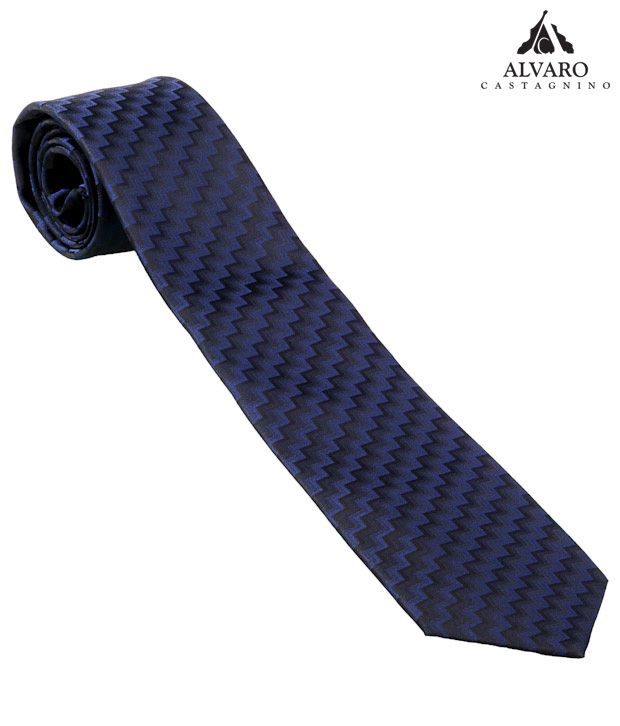 Alvaro Classy Blue & Black Woven Necktie