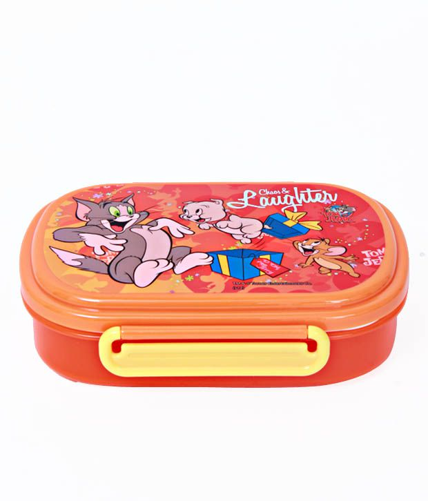 Tom & Jerry Orange Attractive Lunch Box