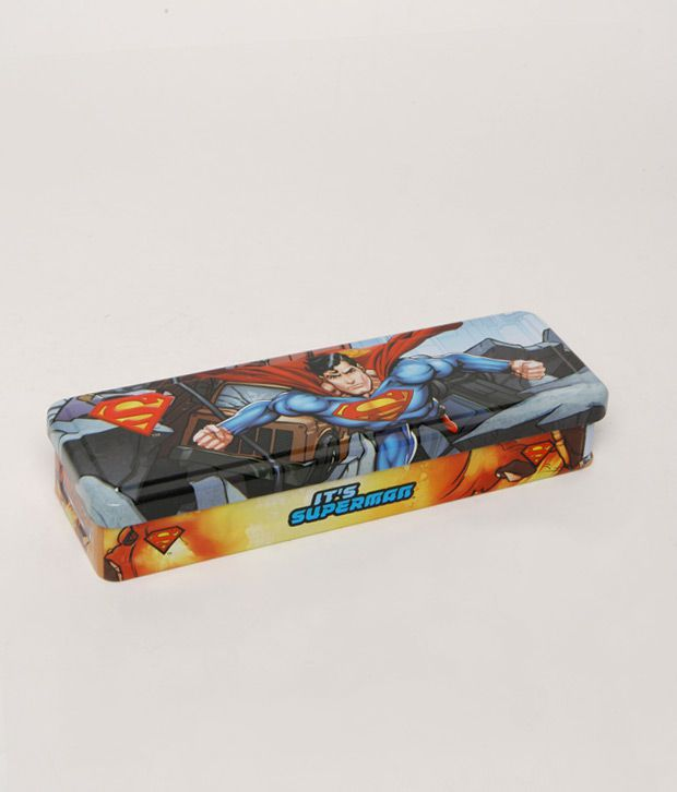Superman Blue Smart Pencil Box