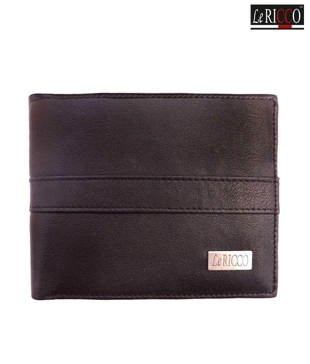 Le Ricco Classy Black Wallet