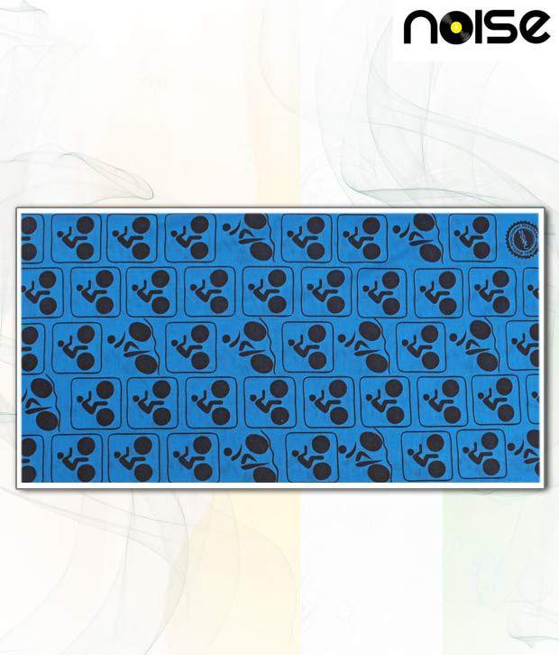 Noise Interesting Blue & Black Head Wrap