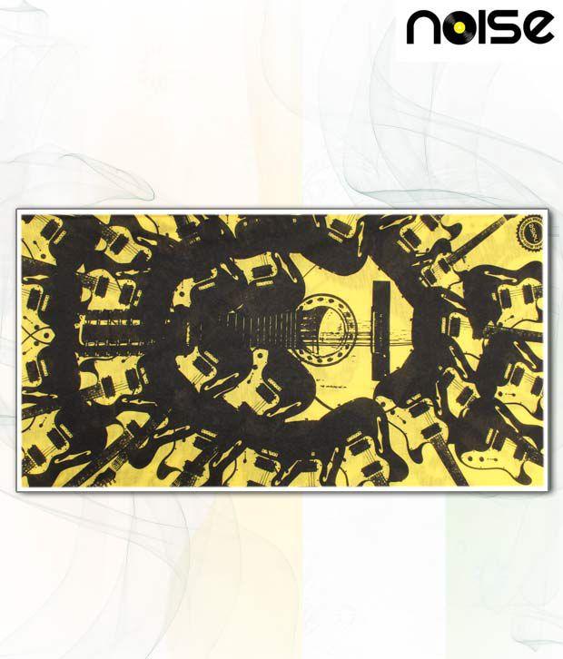 Noise Yellow & Black Guitar Print Head Wrap