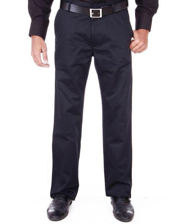 Peter England Brown Formal Trouser