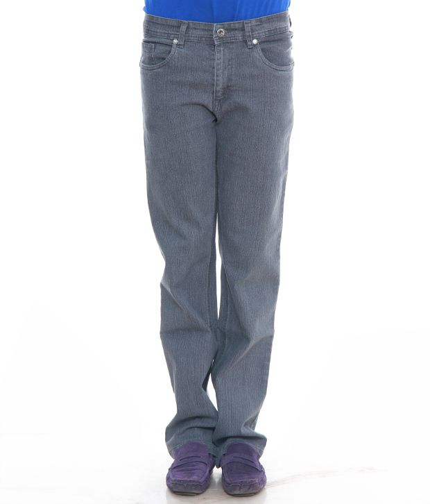 Urban Navy Grey Power Lycra Jeans