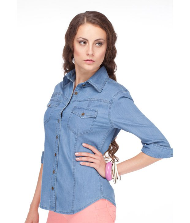 6fa485982bd Buy Yepme Ladies Denim Shirt Online at Best Prices in India - Snapdeal
