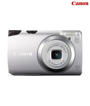 Canon Powershot A3200 14MP Digital Camera (Silver)