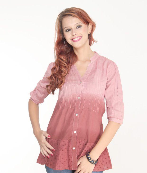 Jiwan Trendy Pink Top