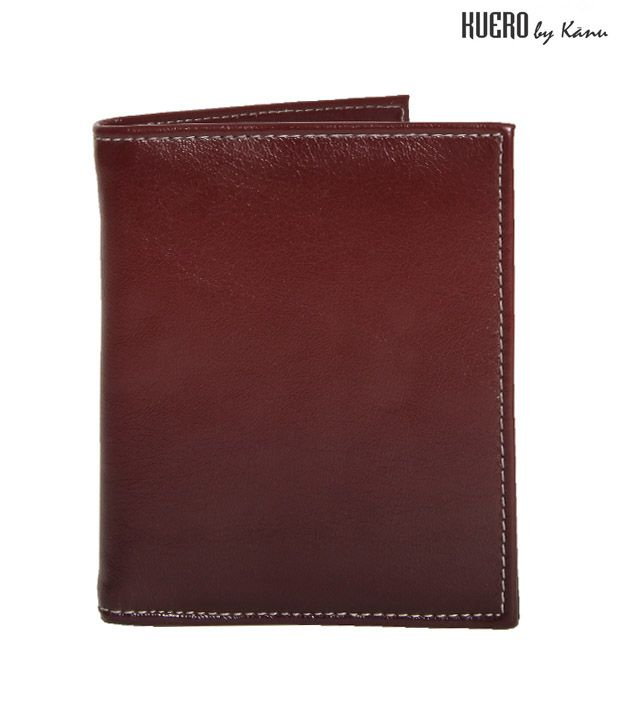 Kuero Swanky Brown Textured Wallet