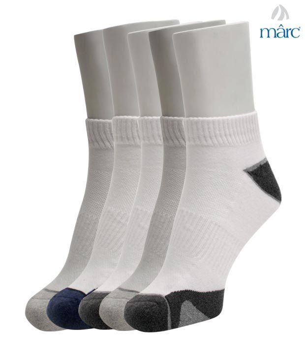 Marc Modish White Set of Five Socks