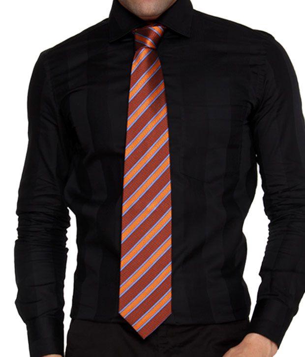 Marc Brown Diagonal Stripes Necktie