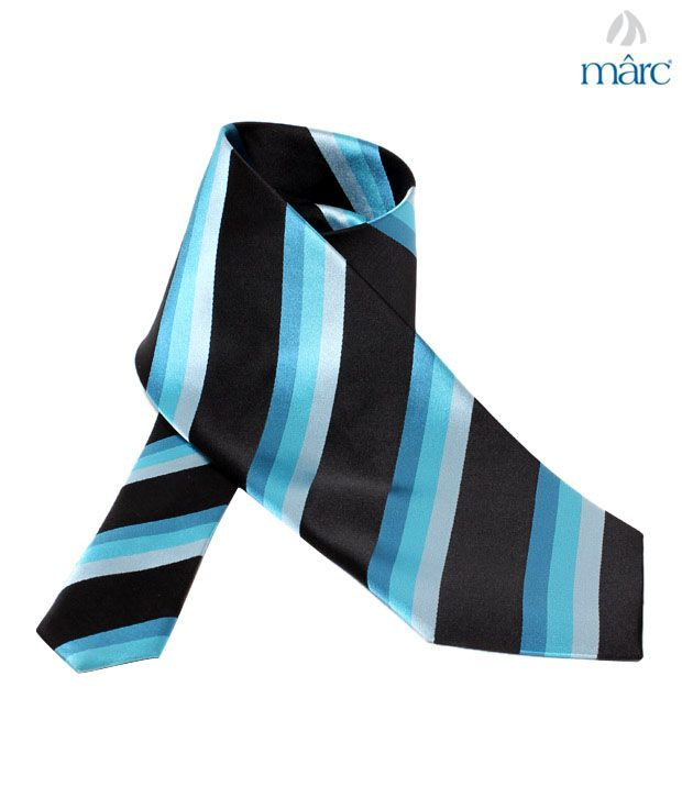 Marc Sky Blue Diagonal Stripes Necktie