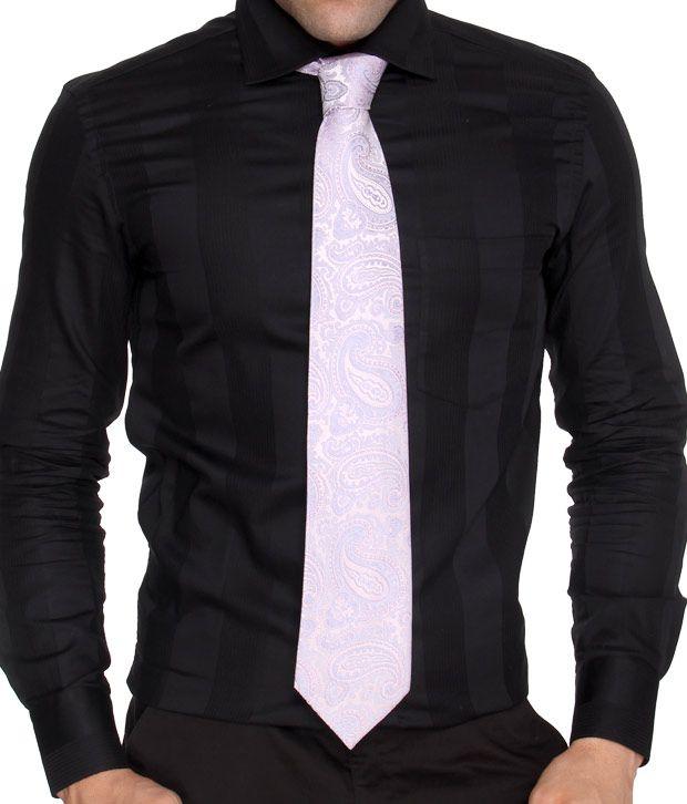 Marc Mauve Paisley Pure Silk Necktie
