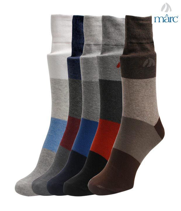 Marc Mix Striped Set of Five Socks