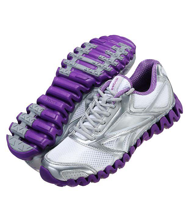 Reebok Zignano Race Silver   Purple Running Shoes Price in India ... 7467de9bd