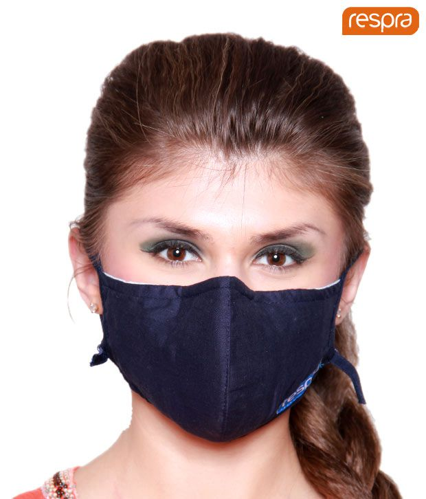 Respra - Anti Pollution Mask - Dark Blue (Pack of 2)
