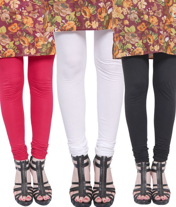 Rudham Black-White-Red Leggings Combo