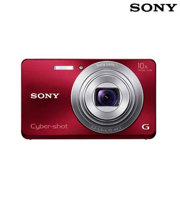 Sony Cybershot W690 16.1MP Digital Camera (Red)