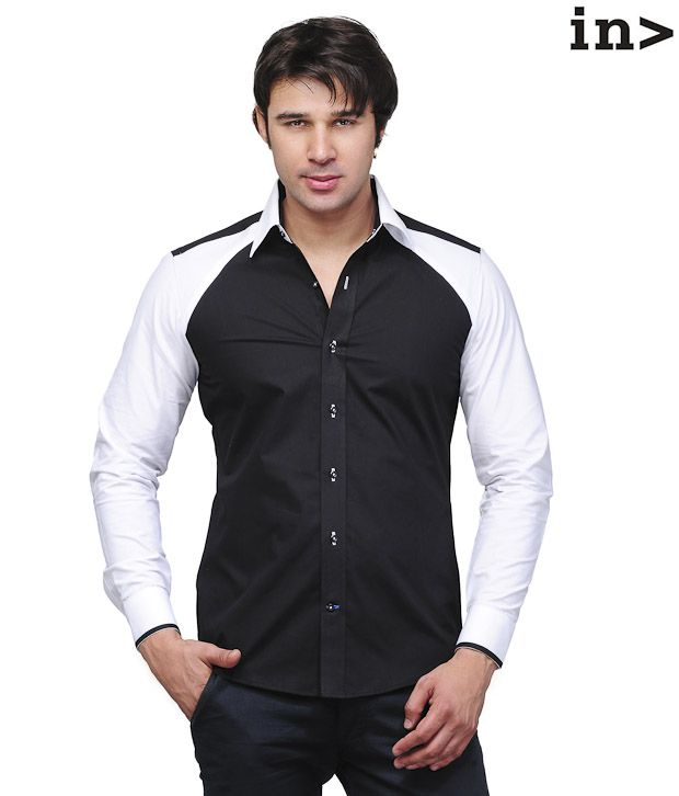 Invogue Stylish Black & White Shirt