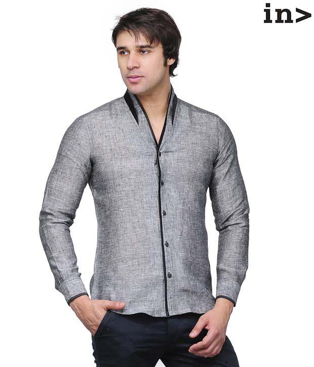 Invogue Dark Grey Shirt with Freebie Belt