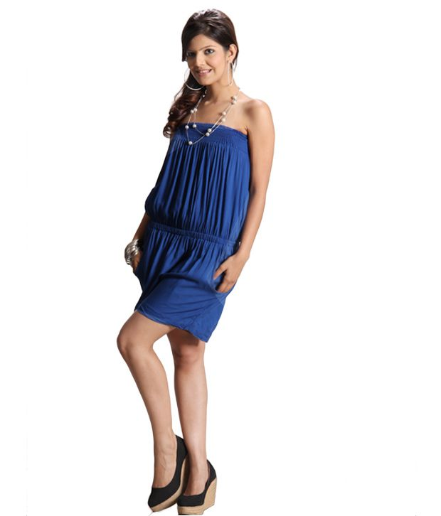Lieben Mode Gorgeous Royal Blue Dress