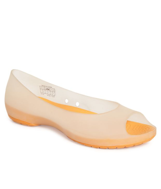 Crocs Carlie Peach & Orange Ballerinas