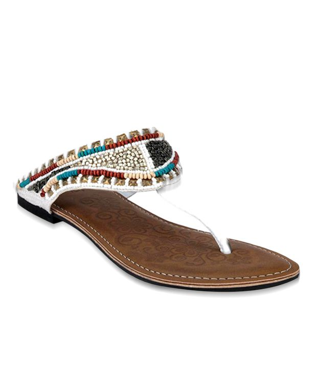 Inc.5 Ethnic White Flats