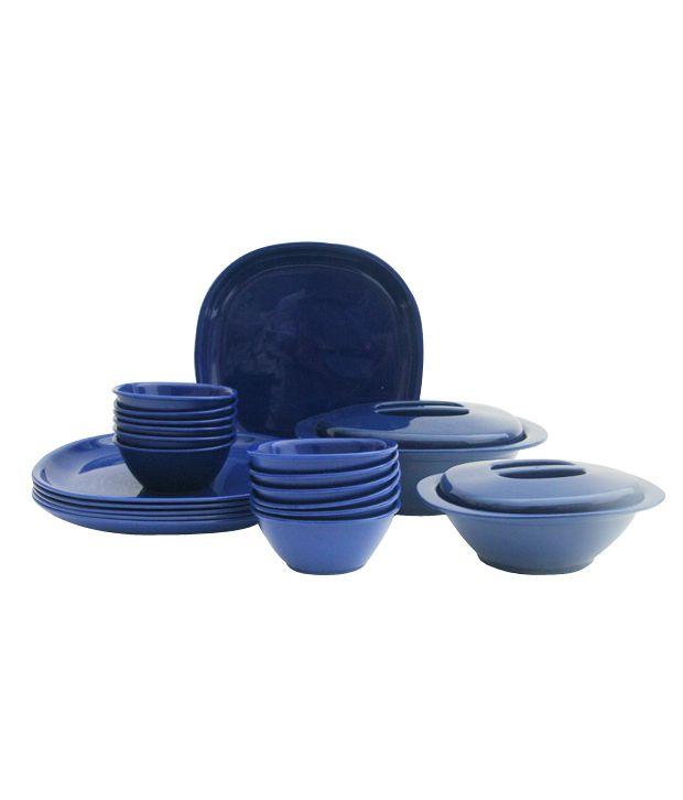 Incrizma Blue 22 Pcs Square Dinner Set