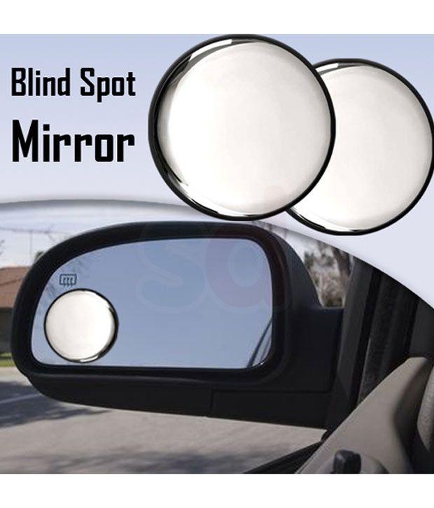 Sdwav Car Blind Spot Convex Side Rear View Mirror Black Corner