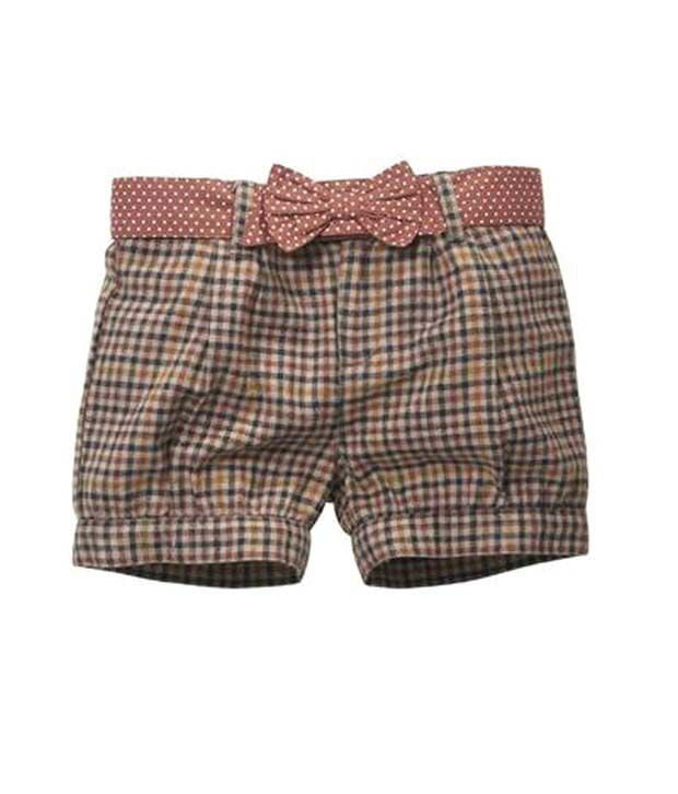 ShopperTree Brown & Grey Checkered Shorts For Kids
