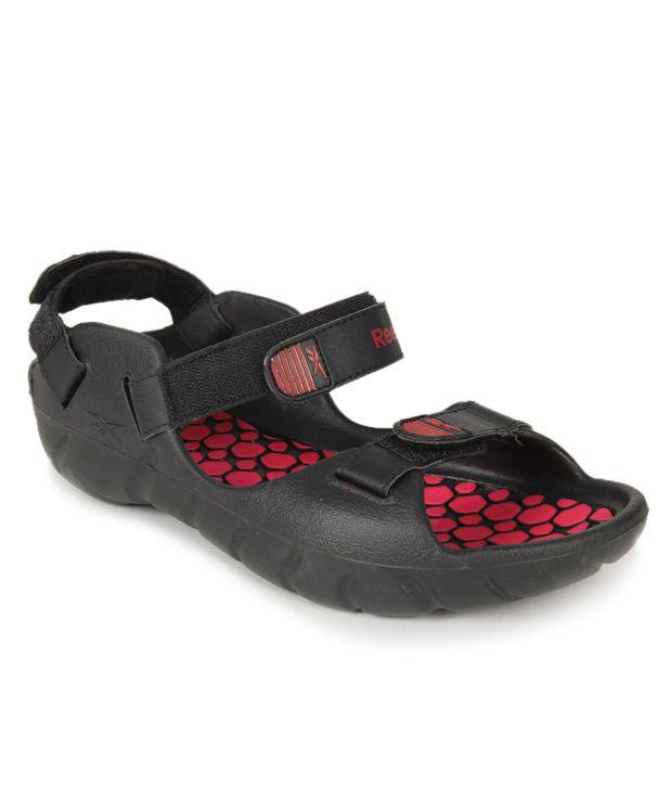 Reebok Enthused Black & Red Floaters