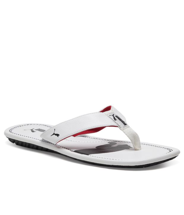 Puma Drifter Cat III White Slippers Price in India- Buy Puma Drifter Cat  III White Slippers Online at Snapdeal b946f8d406