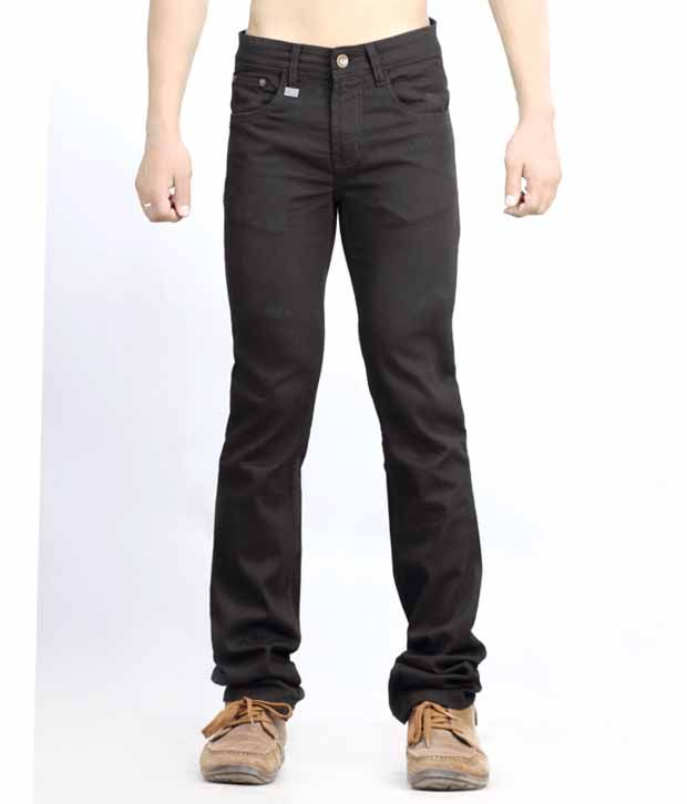 Lawless Low Rise Slim Fit Narrow Hem Denims Black Jeans