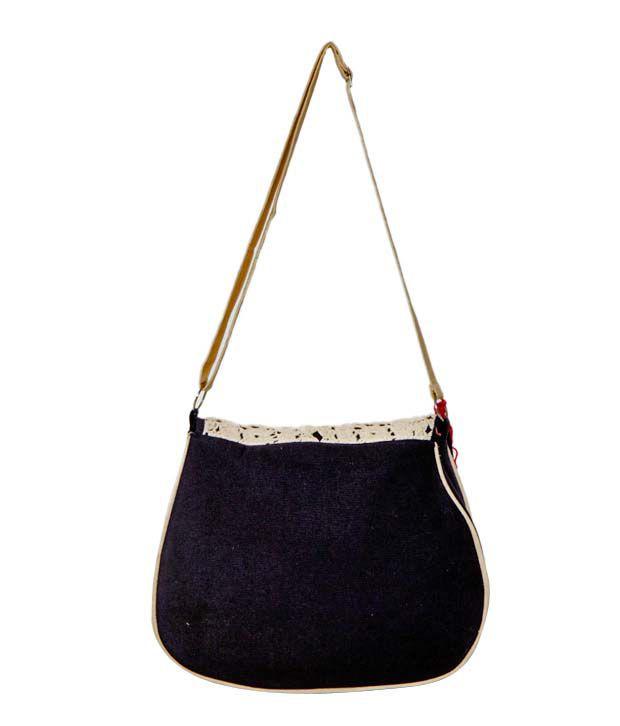 2962f9433bf8 Rediscover Fashion Black Crochet Sling Bag - Buy Rediscover Fashion ...
