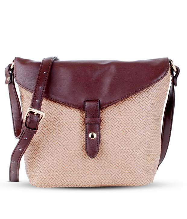 Done By None Niche Beige Sling Bag