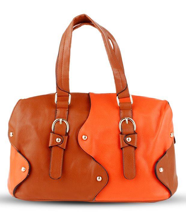 Done By None Titillating Orange-Brown Handbag