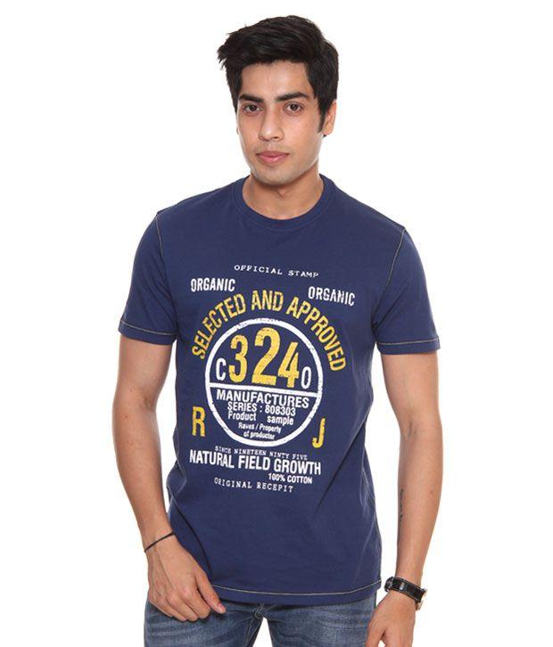 Raves Navy Blue Men's T-Shirt