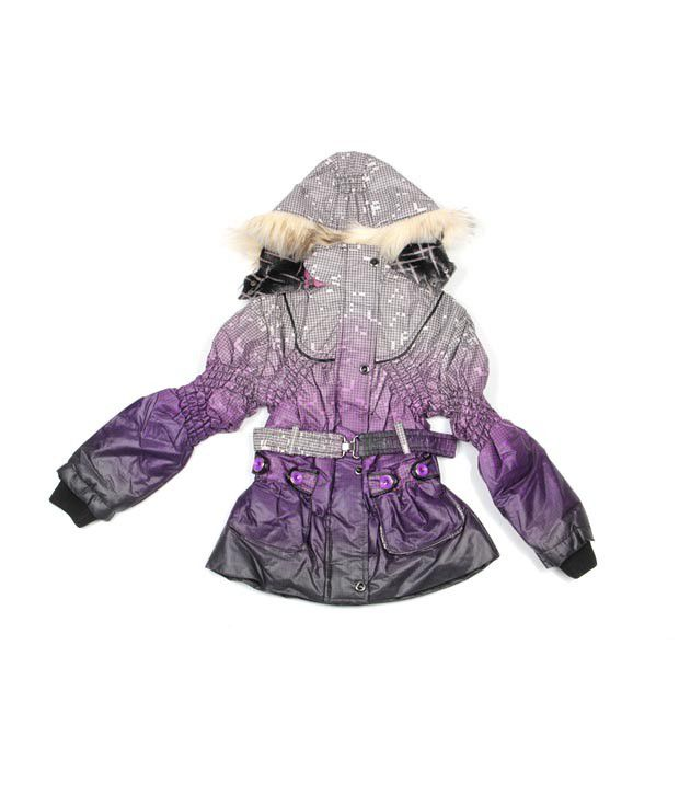 Fort Collins Purple & Grey Jacket For Kids