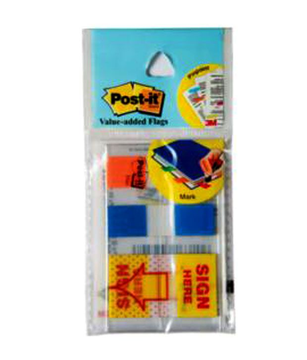 3M Post-it Value Added Flags in 2 colors + Sign Here Flags (pack of 10)