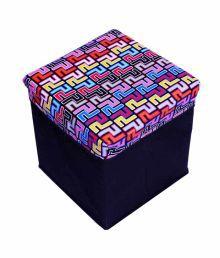 Home Candy Colourful Geometric Print Storage Stool
