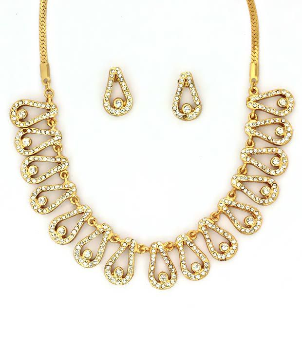 Touchstone Multiple Golden Loops AD Necklace Set