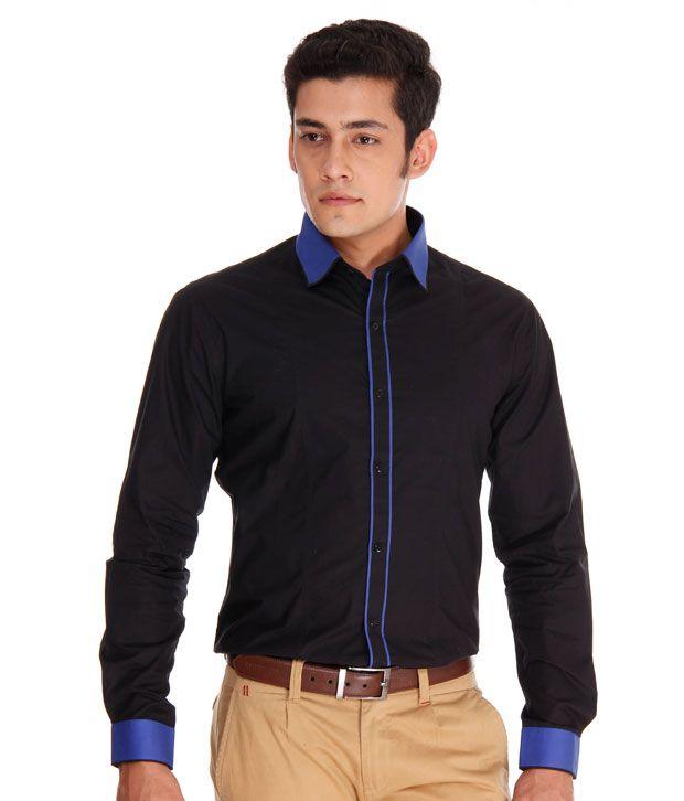 The Design Factory Vibrant Black Shirt - Buy The Design Factory ...