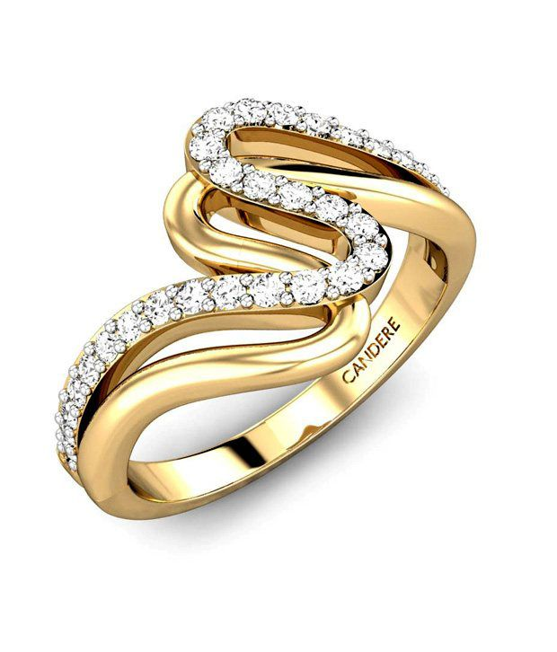 Candere Gold & Diamond The Elastin Ring