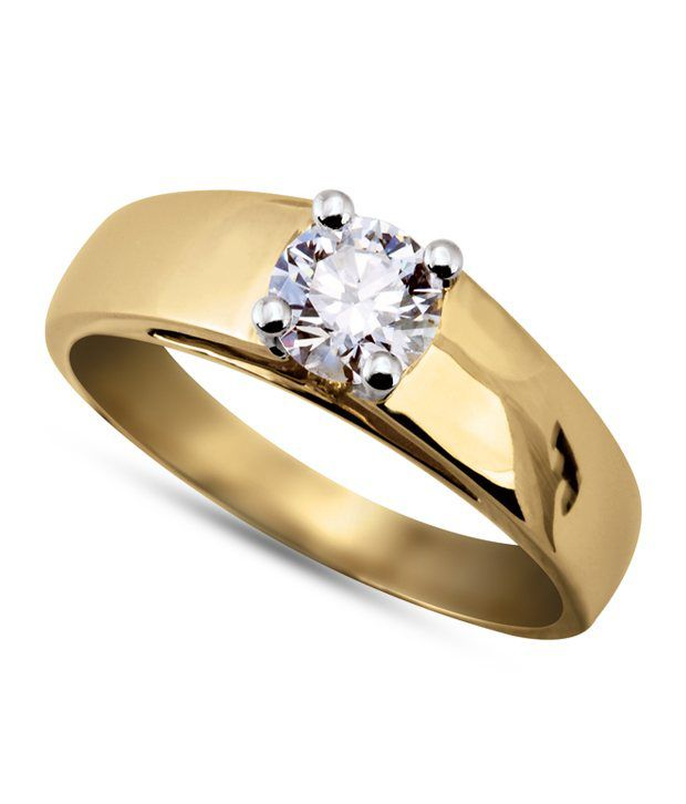 b055270b8b8 Kiara Gold Plated American Diamond Solitaire Ring  Buy Kiara Gold Plated American  Diamond Solitaire Ring Online in India on Snapdeal