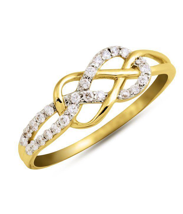 Kiara Love Knot American Diamond Ring Buy Kiara Love Knot American