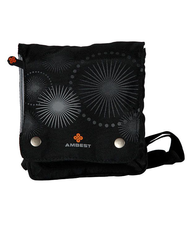 Ambest Black Printed Travel Pouch